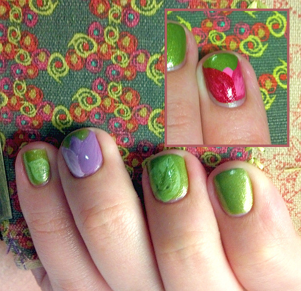 Nail art history oliveview fashion easter tulips prinsesfo Images